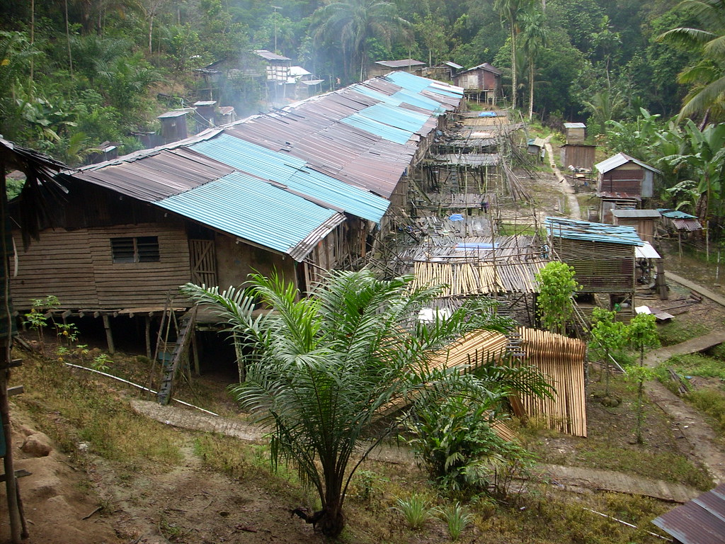 Iban longhouse Sarawak  Thirteen families shared the longho  Flickr