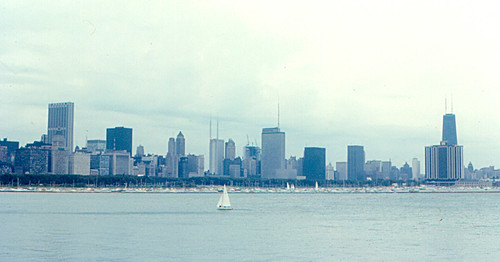 Chicago Skyline in 1970  The Chicago skyline on Lake
