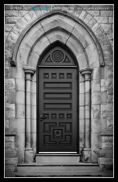 Narrow Secret Castle Door Erie Pennsylvania Cathedral
