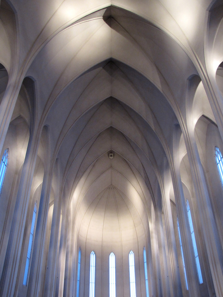 The interior of Hallgrmskirkja church Reykjavik Iceland