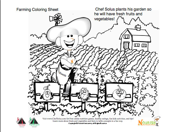 Growing Fresh Garden Vegetables Coloring Page for Kids by