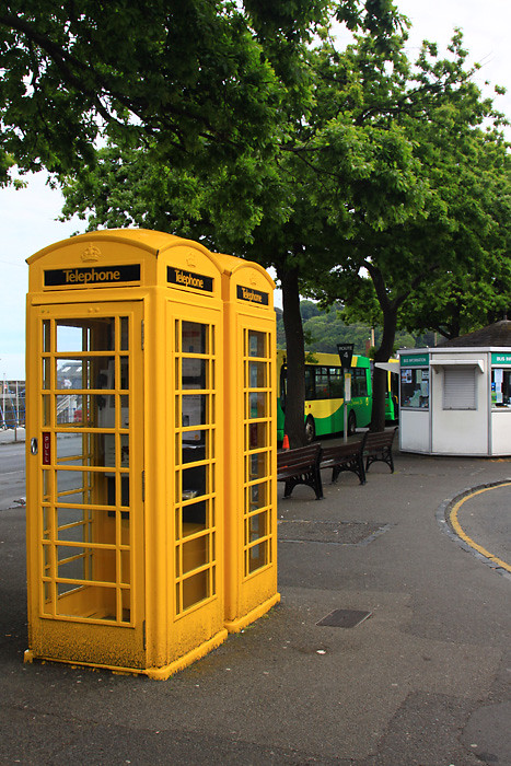Yellow Phone Box  Phone Boxes on the island of Guernsey are  Flickr