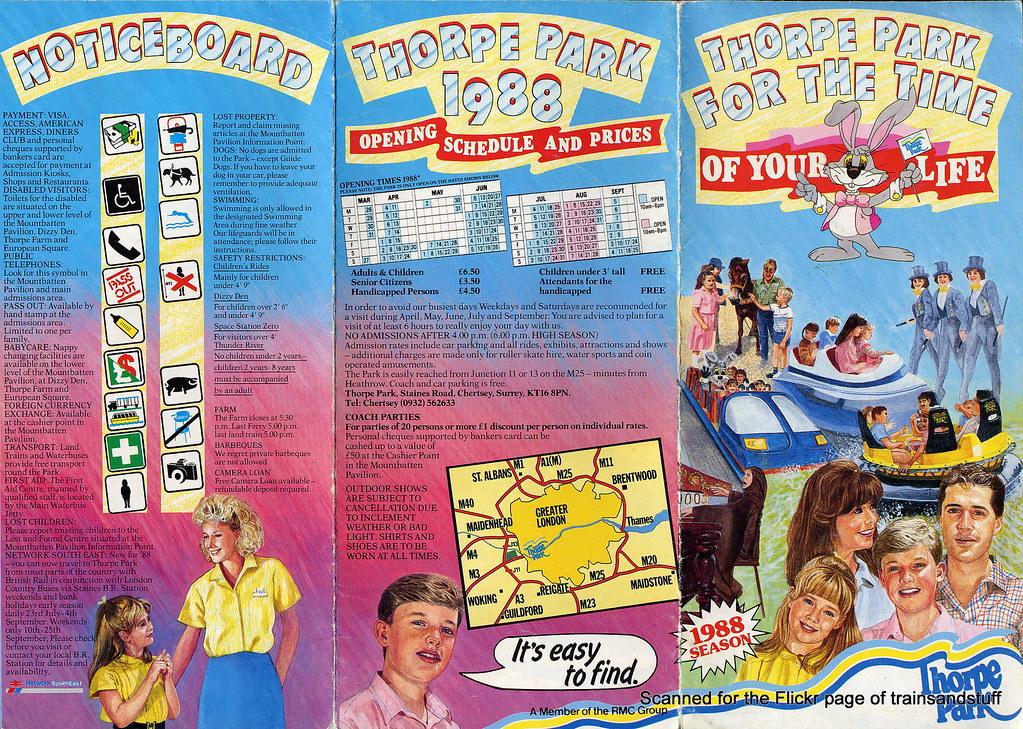 Thorpe Park Leaflet From 1988 Trainsandstuff Flickr
