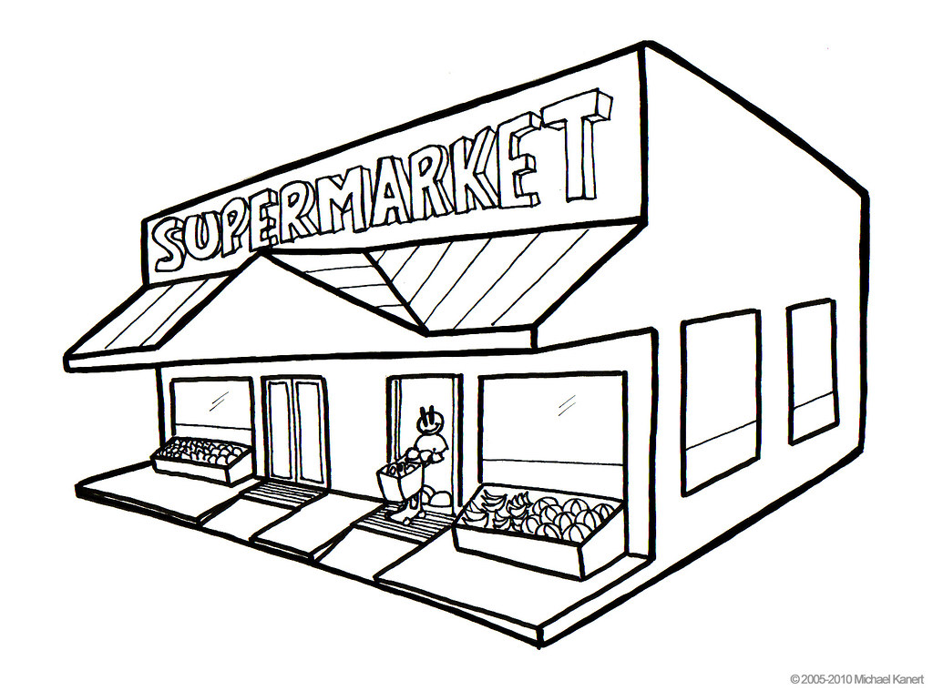 Shopping Mall Coloring Pages At The Black Friday