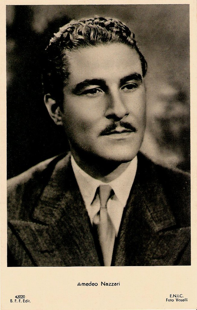 Amedeo Nazzari  Italian postcard by Casa Editrice