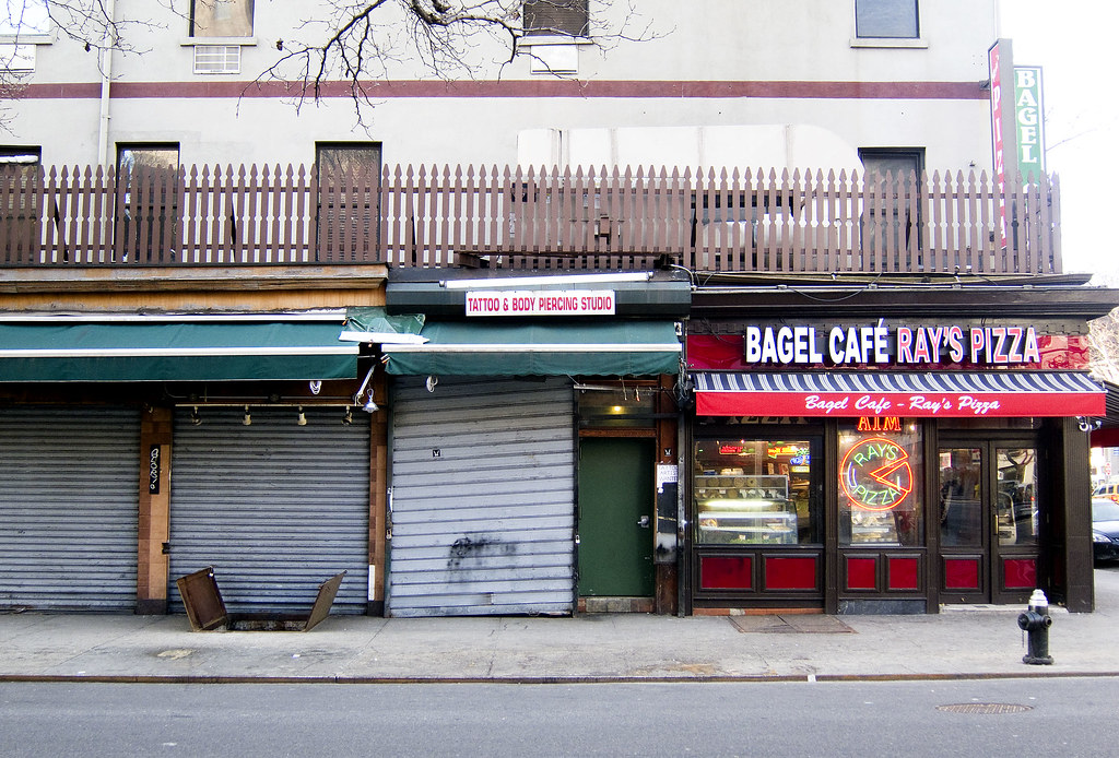 New York Citys Metal Gate Storefronts East Village Bage