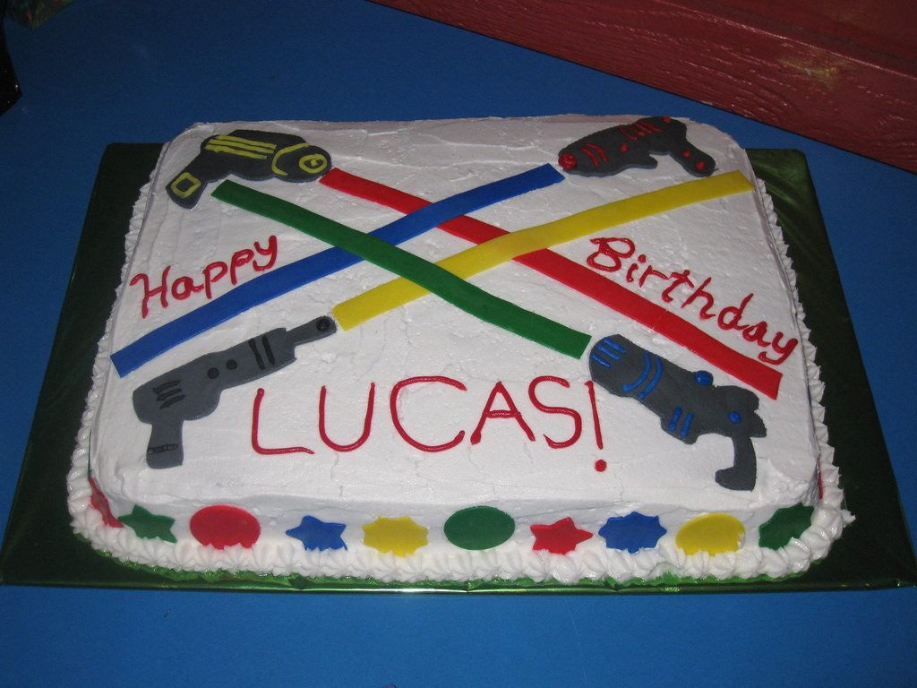 Laser Tag Birthday Cake