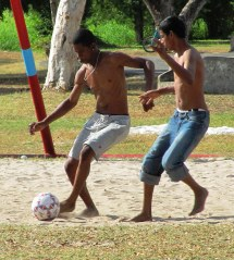 Barefoot Playing Football