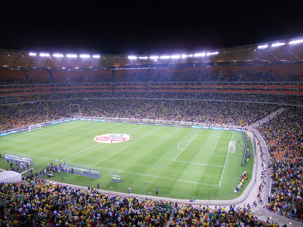 75 000 People Fill Up Soccer City Stadium