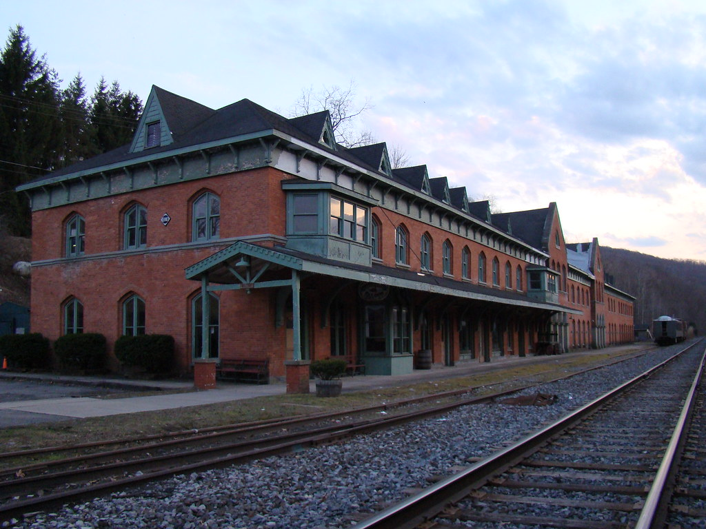 Former Erie Depot in Susquehanna Depot PA  During the hei  Flickr