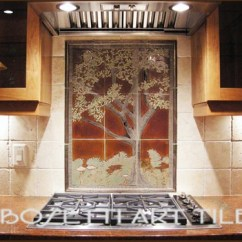 Tile Backsplash For Kitchen Walmart Stools Back Splash Tree Mural | The Home Owners ...