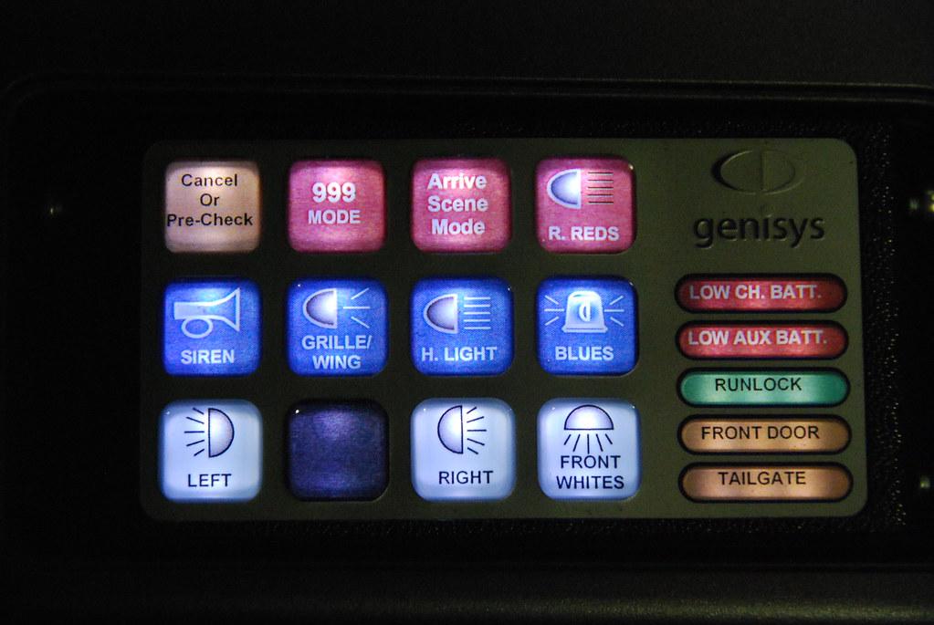 Light And Siren Control Panel Honda CRV RRU Based At