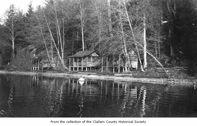 Ovingtons Resort viewed over Lake Crescent Clallam Count