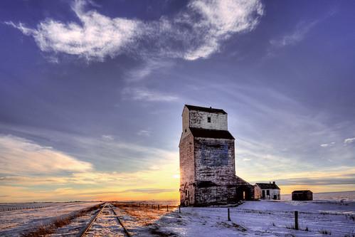 Grain Elevator in front of sunset  Scott Bennie  Flickr