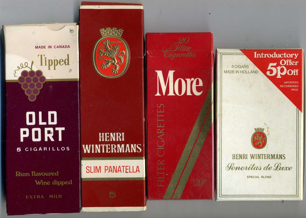 Cigar and Cigarette packets c 1970  Old Port 5