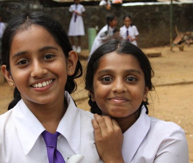 Young Sri Lankan Girls Pinnawela Elephant Orphanage Sri Lanka 2010 By Travfotos