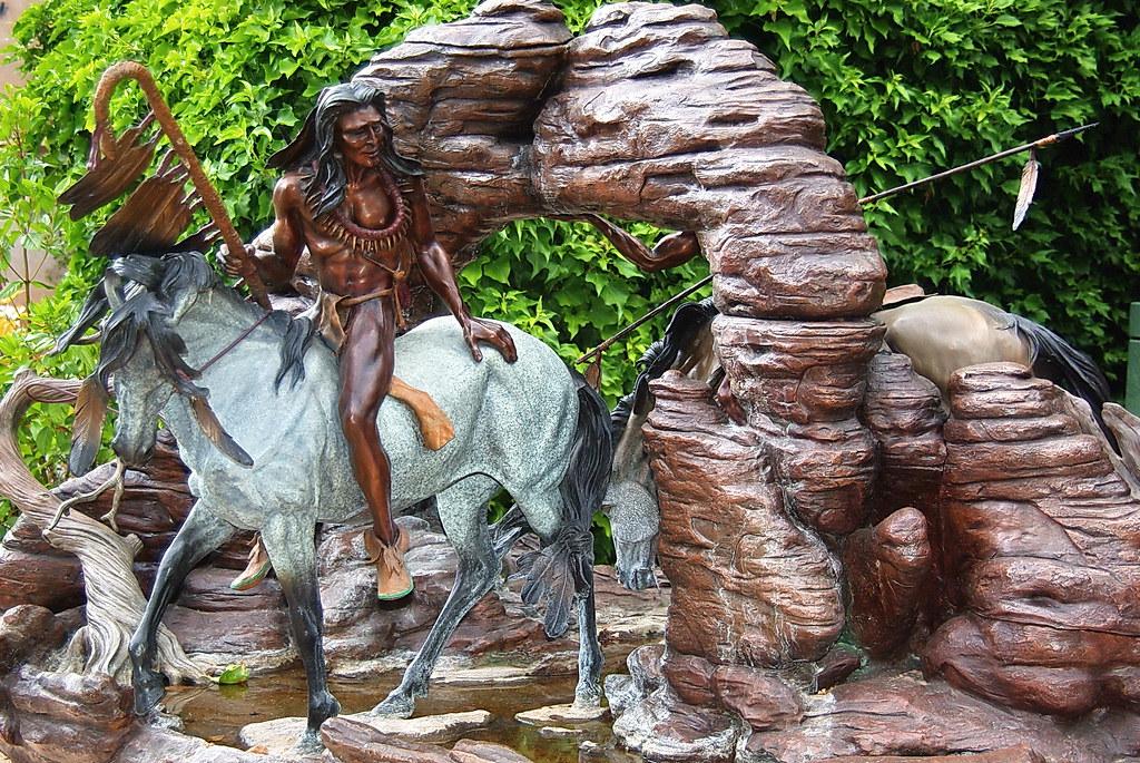 Brave on horse sculpture  Tlaquepaque  Sedona Arizona  Flickr