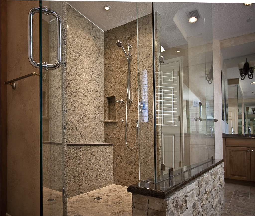 Cambria Shower Walls  For this highend remodel in the