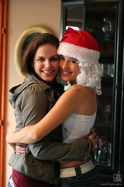 445062  with Bobbi Starr me as Santa Claus  Blue