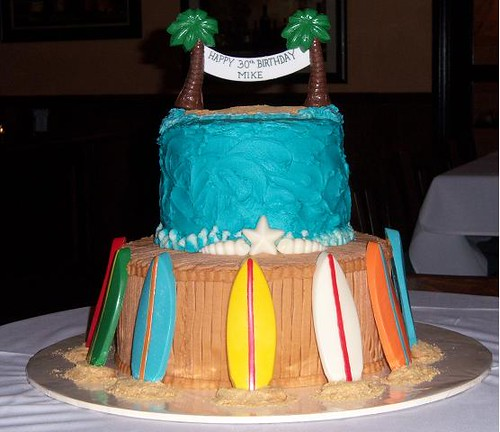 Surfboard Cake  3layer 12 and 3layer 8 homemade Funfet  Flickr