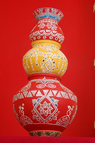 Indian decorated Matka  ready for decoration  Santwana