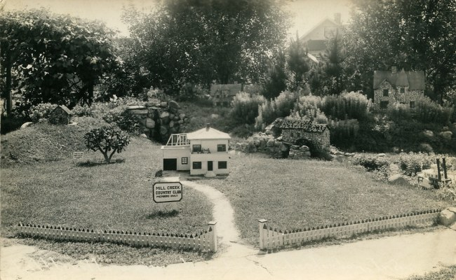 Country Club In Littleville A Miniature Town Circa 1940s