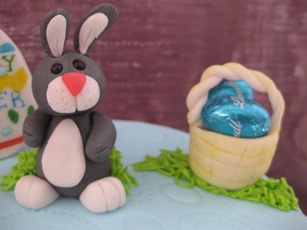 Easter Bunny With Basket O Eggs