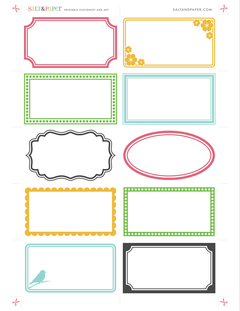 Printable Labels From For A High