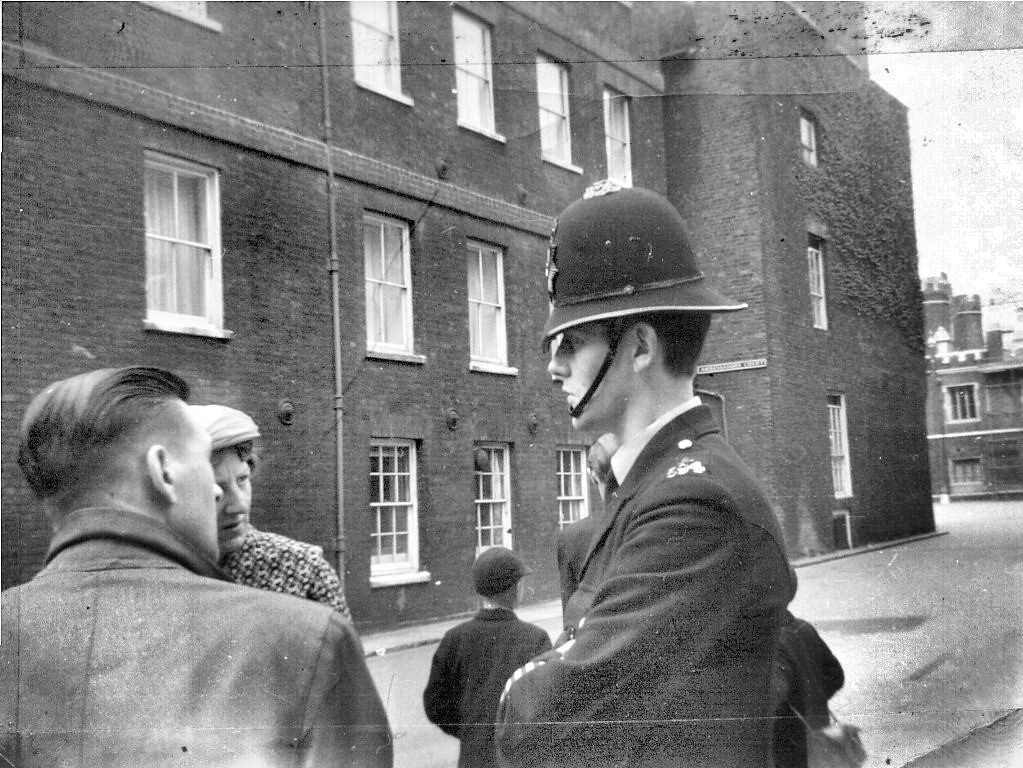 Cannon Row Police Constable 594 A Keith Vaughan Outside