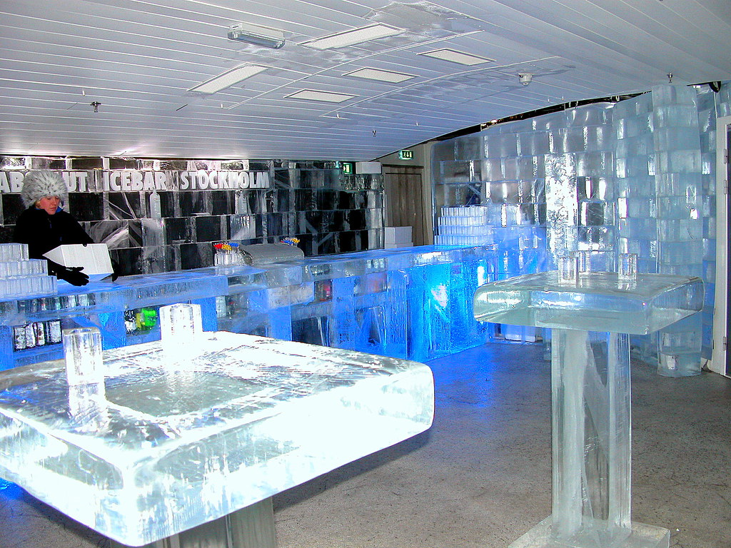 IcE BaR StockholM SwedeN  the only thing not made of ice in  Flickr