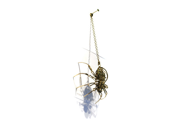 Steampunk Cyclopean clockwork Spider Robot Sculpture