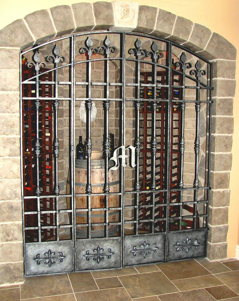 Medieval Wrought Iron Wine Cellar Gate 2  www