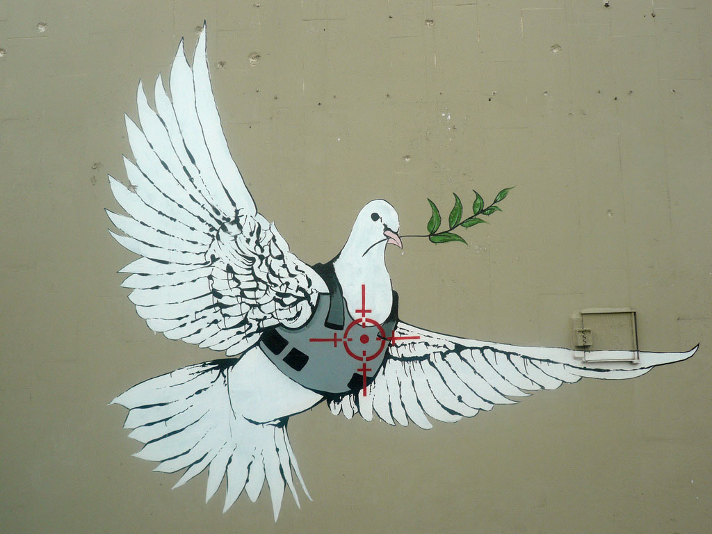 Banksy Dove This Photo Can Be Used Freely By Churches