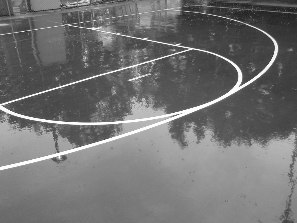 3d Street Wallpaper Basketball Markings The Outdoor Basketball Court In The