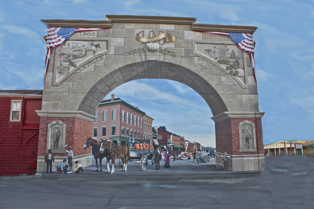 Circleville Ohio downtown Mural  Playing Photoshop and