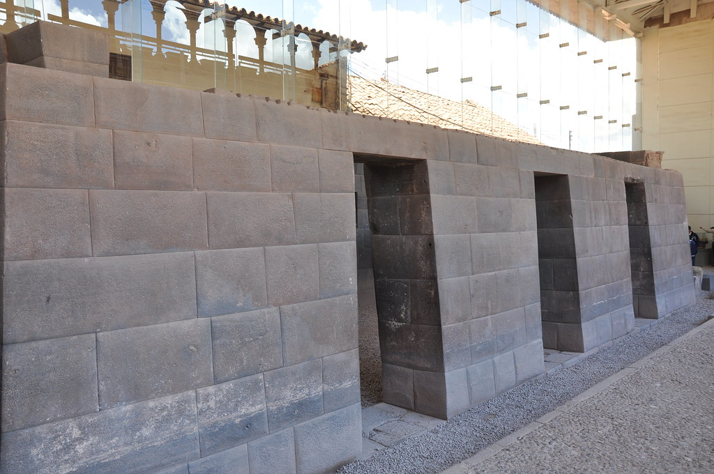 One of the original walls of The Temple of Coricancha Cuz  Flickr