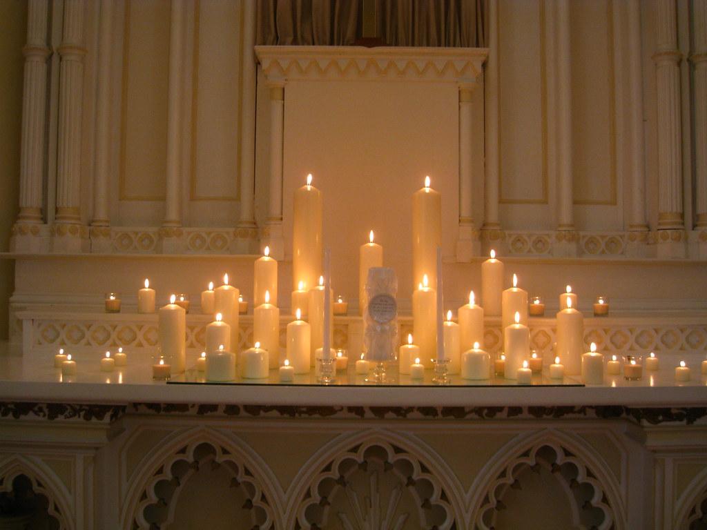 Luxe Wedding  Candle Lit Wedding Altar  Academy Chapel