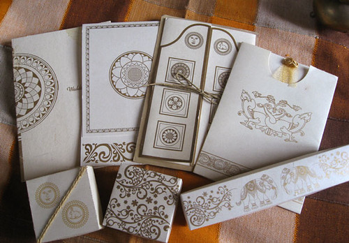 Wedding invitations  greeting cards with traditional Sri