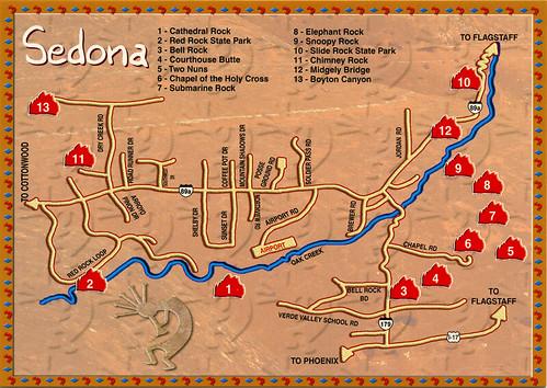 sedona sites map