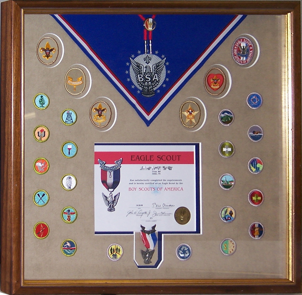 Bsa Eagle Scout Certificate And Merit Badges