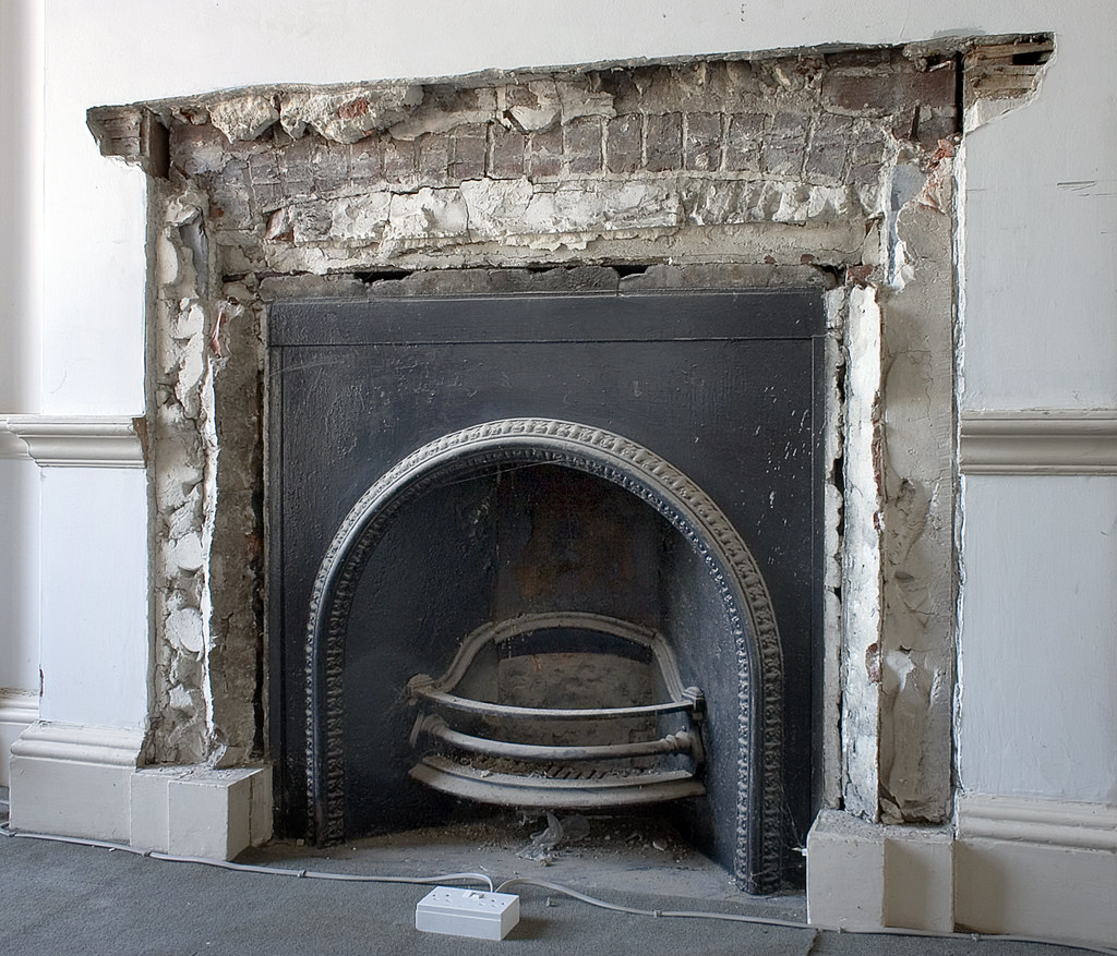 Fireplace  Exposed Brick Arch  Brian Eno Speaker Flowers  Flickr