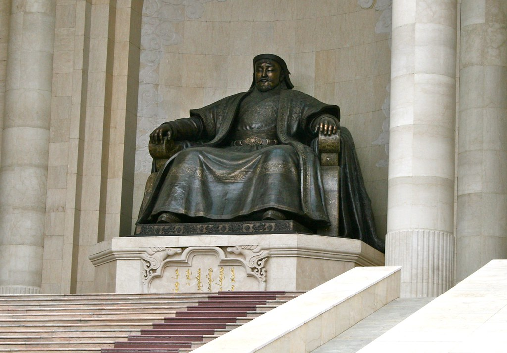 Government building Sitting Genghis Khan statue
