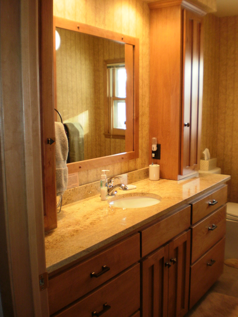 Birch Bathroom Vanity and Tower Cabinets  Birch cabinets
