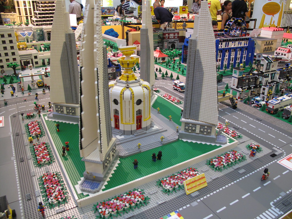 Lego Democracy Monument  Emporium Bangkok Thailand  Flickr