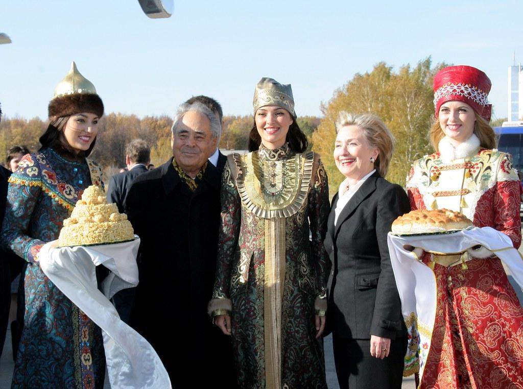 Secretary Clinton With Tatarstan President Mintimer Shaimi