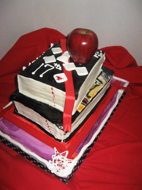 Vampire Books Cake choc cake choc swiss mer filling