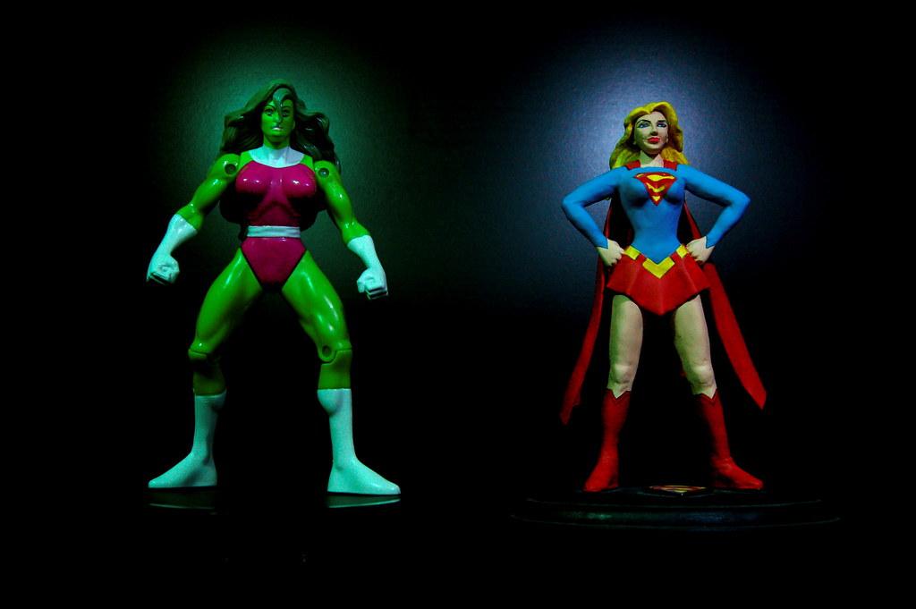 SheHulk vs Supergirl 22365  SheHulk Cousin of the