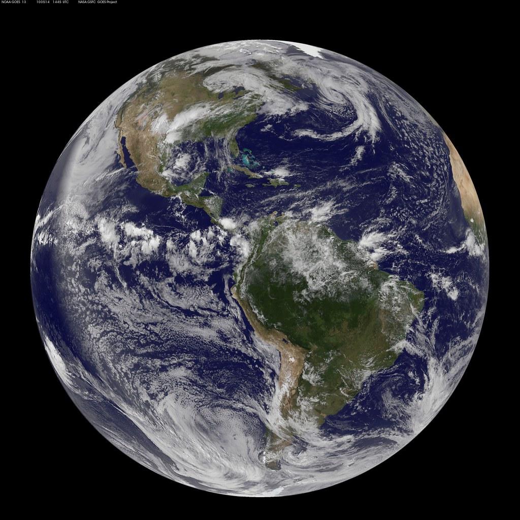 NASA GOES13 Full Disk view of Earth May 14 2010  NASA