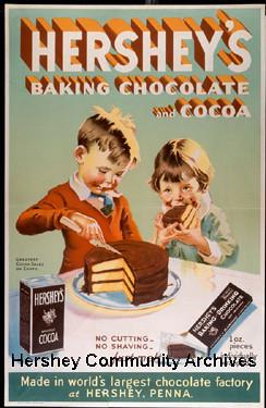 Advertisement Hersheys Baking Chocolate and Cocoa boy