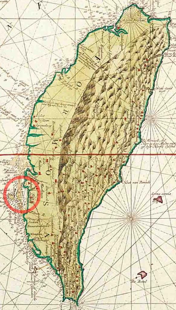 1728年臺灣古地圖-1 | 1576. 1728 年臺灣古地圖之臺南古地圖 | hycheng2 | Flickr